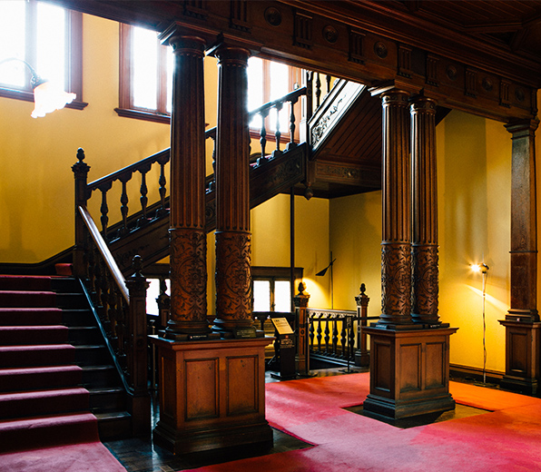 Western-style residence (central staircase)