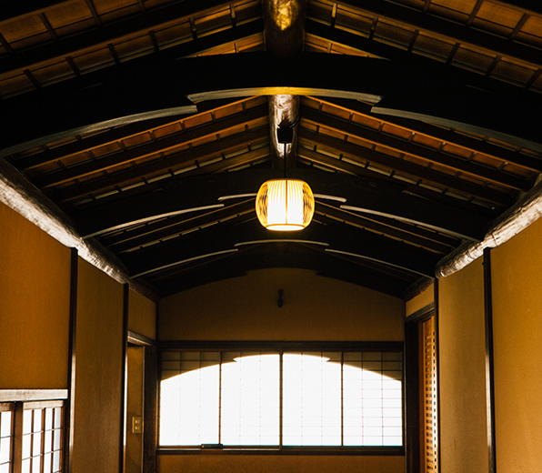 Japanese-style building (Ceiling designed after the bottom of a boat)