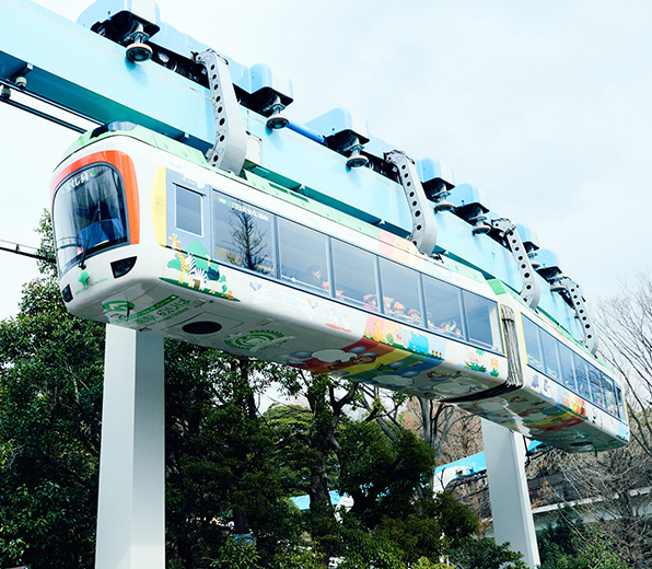 Ueno Zoo monorail (official name: Ueno Kensui-sen)