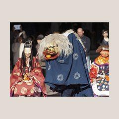 博物館に初もうで 新春イベント「獅子舞」