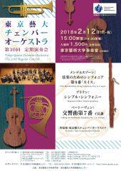 東京藝大チェンバーオーケストラ 第30回 定期演奏会